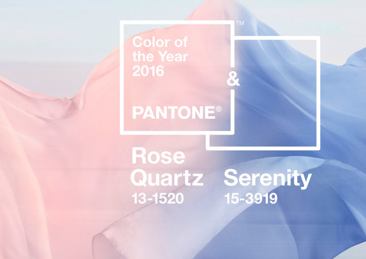 Pantone Releases the colors of 2016: <br>Rose Quartz and Serenity